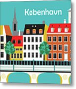 Copenhagen Kobenhavn Denmark Horizontal Scene Metal Print