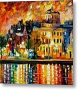 Copenhagen Original Oil Painting  Metal Print
