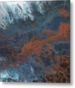 Copper Abstract 2 Metal Print
