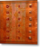 Copper Abstract Metal Print