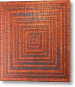 Copper And Cerulean Crack Metal Print