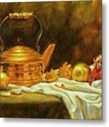 Copper And Onions Metal Print