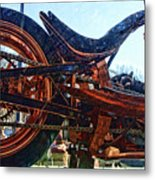 Copper Bike Ny Centennial Statue Of Liberty Ny Metal Print