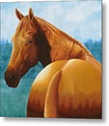 Copper Bottom - Quarter Horse Metal Print