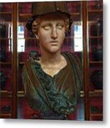 Copper Bust In Rome Metal Print