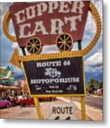 Copper Cart Metal Print