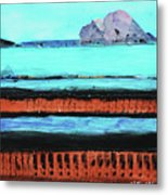 Copper Cliffs Beachside Metal Print