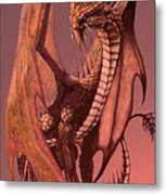 Copper Dragon Metal Print