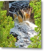 Copper Falls Metal Print