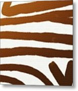 Copper Lines Metal Print