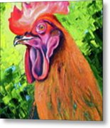 Copper Maran French Rooster Metal Print