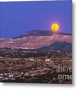 Copper Moon Rising Over The Santa Rita Metal Print