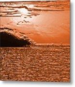 Copper Plate Sunrise Metal Print