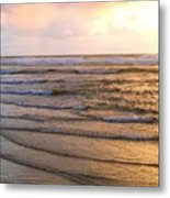 Copper Shores Metal Print