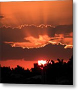 Copper Sunset Metal Print