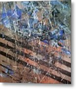 Copper To Blue Abstract Metal Print