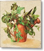 Copper Watering Can Metal Print
