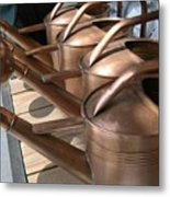 Copper Watering Cans Metal Print