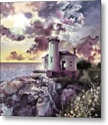 Coquille River Lighthouse 2 Metal Print