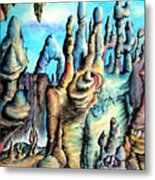 Coral Island, Stone City Of Alien Civilization Metal Print