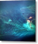 Coral Reef From 28000 Feet Metal Print