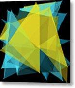 Coral Reef Polygon Pattern Metal Print
