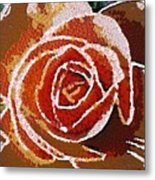 Coral Rose In The Mix Metal Print