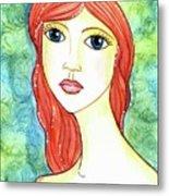 Coralia, The Mermaid Metal Print