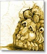 Cordoba Lion Metal Print