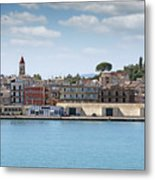 Corfu Town Port With Warehouses Metal Print