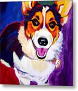 Corgi - Taste The Rainbow Metal Print