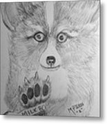Corgi Pup Metal Print
