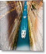 Corinth Canal  Metal Print