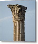 Corinthian Columns At The Roman Forum Metal Print