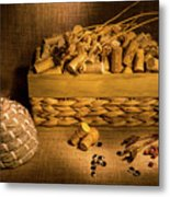 Cork And Basket 3 Metal Print