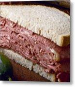 Corn Beef Sandwich Metal Print