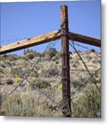 Corner Crossing Metal Print