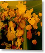 Corner In Green And Gold Metal Print