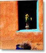 Corner In Santa Fe Nm Metal Print