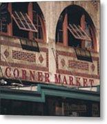 Corner Market Pikes Place Market Metal Print