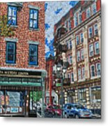 Corner Of Dietz And Main Oneonta Ny Metal Print