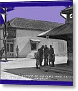 Corner Of Meyer And Convent Barrio Burton Frasher Photo Tucson Arizona 1938 Color Added 2016 Metal Print