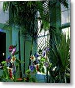 Corner Office, Key West, Fl Metal Print
