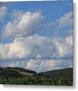 Cornfield With A View Metal Print