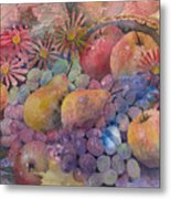 Cornucopia Of Fruit Metal Print by Arline Wagner