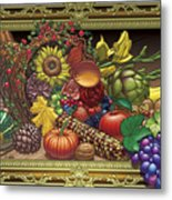 Cornucopia Overflowing Metal Print