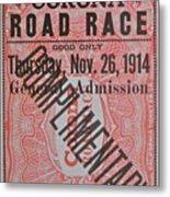 Corona Road Race 1914 Metal Print