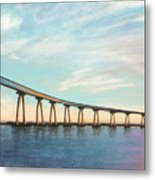 Coronado Bridge Sunset A Metal Print