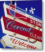 Coronet Cleaners Metal Print