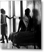 Corridor Of Haitian Hospital Metal Print